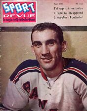 1958 (April) Sport Revue, Hockey magazine, Lou Fontinato, New York Rangers ~Fr
