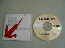 DAVID HOLMES Bow Down To The Exit Sign promo CD album