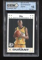 Kevin Durant RC 2007-08 Topps #2 50th White Border Rookie GEM MINT 10
