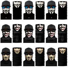 2PCS V — значит вендетта маска для лица солнцезащитный экран шарф-труба ободок на Хэллоуин, Cosplay