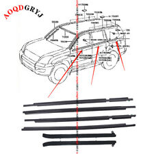For Toyota Prado FJ/LC120 GX470 03-09 Car Quarter & Door Belt Moulding Black Set