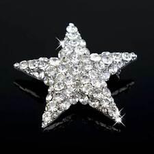 Women Lady Men Stars Rhinestone Crystal Breastpin Pin Brooch Gift Hot