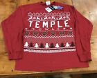 Temple Owls Ugly Christmas Sweater Size Small New With Tags