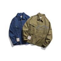 Red Ruggison Lab US Vintage Men's Casual Jacket AMEKAJI Work Coat Tops Overall