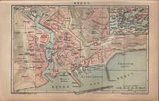 Landkarte city map 1901: Stadtplan: BREST. WEISS-RUSSLAND Maßstab: 1 : 16.000