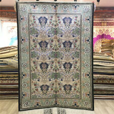 Yilong 2.25'x3.25 Small Silk Area Rug Vintage Hand knotted Tapestry Carpet L005B
