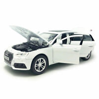Audi A4 1/32 Model Car Diecast Toy Vehicle Kids Collection Sound Light White