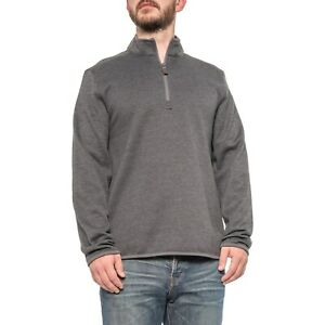 $80 New G.H. Bass & Co. Mock Neck Sweater Zip Neck SMALL Men's Gray Thermal #J