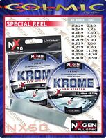 Monofilo mulinello Colmic NXgen NX50 Krome mt.150 pesca in mare