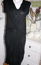 Noa Noa Dress Kleid Autum Jersey Black Kurzarm Viscose Size: XS Neu