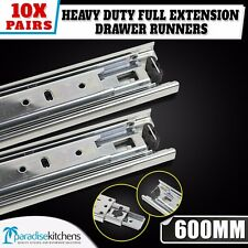 10 x ball bearing drawer runners kitchen vanity 600mm new slides heavy duty