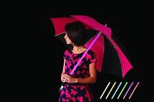 VQ Ella Multi Colour LED Umbrella With a Torch Handle - Black Pink