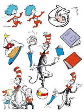 DR. SEUSS clings 9 Cat in Hat window/glass/mirror decoration Kids Things 1 2 +
