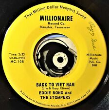 Eddie Bond & The Stompers 45 Country Back To Viet Nam I Just Found Out Glossy M-