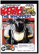 CYCLE WORLD FEBRUARY 2008 KTM RC8 2300cc TRIUMPH ROCKET 3 YAMAHA YZF-R6 SUZUKI