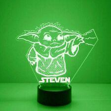 Baby Yoda Personalized FREE Star Wars LED Night Light Lamp + Remote
