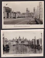 Exhibition Spain EXPOSICION INTERNACIONAL DE BARCELONA 1929 x 2 RP PPCs