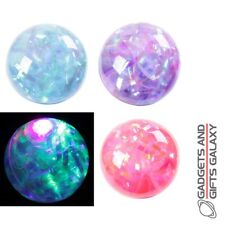 FUN KIDS Flasher Rubber Bouncy Ball Multi Paillettes Toy Gift Novelty