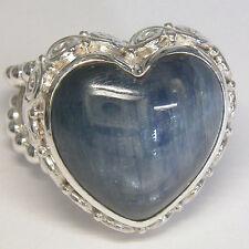 Offerings Sajen 925 Sterling Silver Kyanite Heart Ring Size 6
