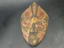 More details for indonesian batik wood topeng mask with wall decor