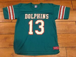 1980's MIAMI DOLPHIS #13 RAWLINGS NFL JERSEY SIZE LARGE VINTAGE DAN MARINO