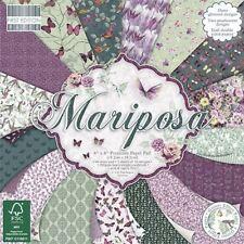 Premium Craft Cardstock First Edition 6x6 Designer Paper Pad - Mariposa