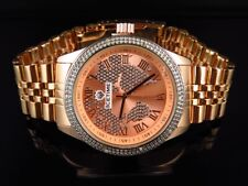 Unisex Icetime Continental World Map Diamond Watch CTL-03 in Rose Gold Finish