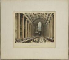 Thomas Rowlandson / EGYPTIAN HALL MANSION HOUSE ORIGINAL HANDCOLORED #252441