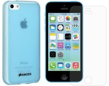 FOR IPHONE 5C: AMZER SLIM CASE TPU SKIN BACK COVER + FREE CLEAR SCREEN PROTECTOR