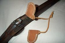 Flintlock Rifle Pistol, leather Frizzen Covers (two)