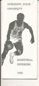 1969 - 1970 Mississippi State Basketball press Media guide bkbx3
