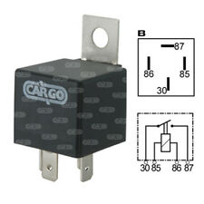 Cargo 160652, 6v, 4 Terminal Mini Relay with Bracket 20 Amps
