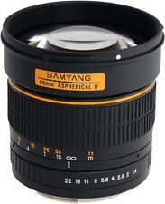 Samyang 85 Mm F 1 4 AE Lens for Nikon