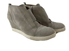 Linea Paolo Womens Size 10 Gray Wedge Side Zip Booties