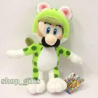 "Super Mario 3D World Green Cat Luigi Plush Soft Toy Stuffed Animal Doll Teddy 9"""