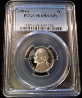 1984 S 5¢ Jefferson Nickel ~ PCGS PR69DCAM Superb Gem Proof