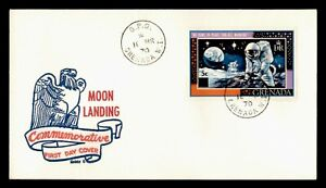 DR WHO 1970 GRENADA FDC SPACE MOON LANDING BOBBY G CACHET OVPT  g00479