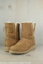 UGG CYD CHESTNUT SUEDE METAL STUD CLASSIC SLIM   WOMENS BOOTS US 10 new