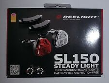 New Reelight SL150 steady bike bicycle front & rear light set no batteries
