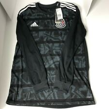 New Mens Adidas Mexico National Team Long Sleeve Soccer Jersey Black - PICK SIZE
