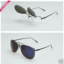 New Polarized Clip On Sunglasses Clip On Glasses Aviator UV400  Black