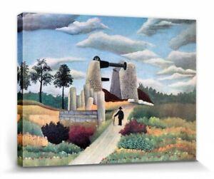 Henri Rousseau - Steinbruch Poster Leinwand-Druck (40x30cm) #111736