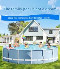 🔥Family Bracket Metal Frame Steel Round Above Ground Swimming Pool+ Free gifts