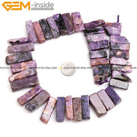 Natural Stone Freefrom Flat Stick Point Beads Hexagonal For Jewelry Making 15''
