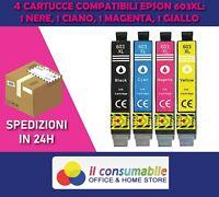 4 Cartucce per Epson 603 XL Stella Marina XP-2100,3100,WF-2810,2830,2835