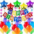 Décoration anniversaire Banderole Bannière de Joyeux 5 Ballons Aluminium Etoiles