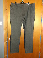 """M&S Collezione Brushed Touch Flat Front Slim Fit Trousers W42""""L29"""" Charcoal BNWT"""