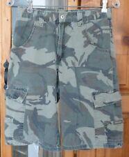 WRANGLER Green Camouflage CARGO SHORTS 8 Pockets Adjustable 28 X 11.5 Youth 14
