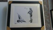 """Gravure/Lithographie Banksy """" Fallen Angel """" Tirage 300 Exemplaires numérotés"""