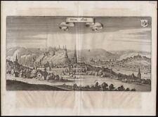 Belgien  Huy  Merian  Kupferstich  Ansicht 1647